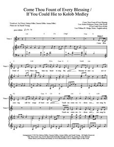 SHEET MUSIC Image - Come Thou Fount--Hie to Kolob_w300