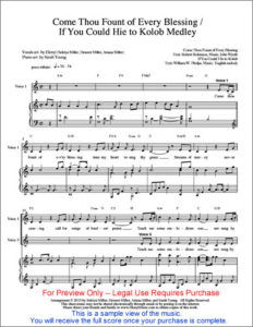 SHEET MUSIC Image - Come Thou Fount--Hie to Kolob_w500